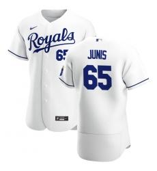 Men Kansas City Royals 65 Jakob Junis Men Nike White Home 2020 Flex Base Player MLB Jersey