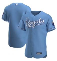 Men Kansas City Royals Men Nike Light Blue Alternate 2020 Flex Base MLB Jersey