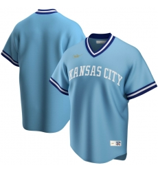 Men Kansas City Royals Nike Road Cooperstown Collection Team MLB Jersey Light Blue