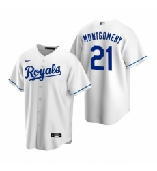 Mens Nike Kansas City Royals 21 Mike Montgomery White Home Stitched Baseball Jersey