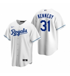Mens Nike Kansas City Royals 31 Ian Kennedy White Home Stitched Baseball Jerse