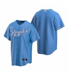 Mens Nike Kansas City Royals Blank Light Blue Alternate Stitched Baseball Jersey