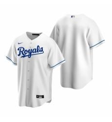 Mens Nike Kansas City Royals Blank White Home Stitched Baseball Jersey