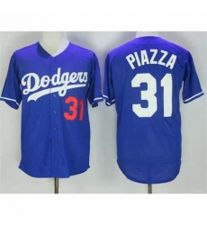 Los Angeles #31 Mike Piazza Dodgers Blue Flex Base Jersey