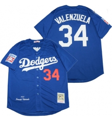 Los Angeles Dodgers 34 Fernando Valenzuela Royal 1981 Cooperstown Collection Jersey