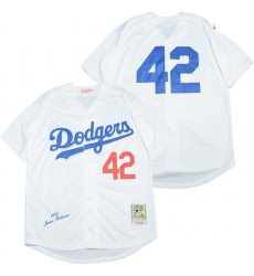 Los Angeles Dodgers 42 Jackie Robinson White 1955 Cooperstown Collection Jersey
