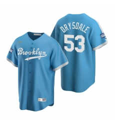 Men Brooklyn Los Angeles Dodgers 53 Don Drysdale Light Blue 2020 World Series Champions Cooperstown Collection Jersey