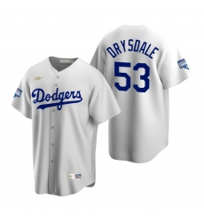 Men Brooklyn Los Angeles Dodgers 53 Don Drysdale White 2020 World Series Champions Cooperstown Collection Jersey