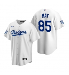 Men Los Angeles Dodgers 85 Dustin May White 2020 World Series Champions Replica Jersey