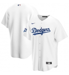 Men Los Angeles Dodgers Blank White Nike 2020 World Series Champions Cool Base Jersey