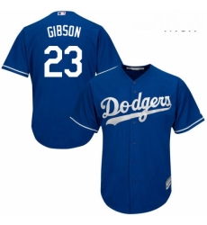 Mens Majestic Los Angeles Dodgers 23 Kirk Gibson Authentic Royal Blue Alternate Cool Base MLB Jersey