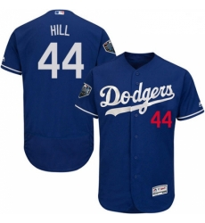 Mens Majestic Los Angeles Dodgers 44 Rich Hill Royal Blue Alternate Flex Base Collection 2018 World Series Jersey 2