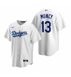 Mens Nike Los Angeles Dodgers 13 Max Muncy White Home Stitched Baseball Jersey