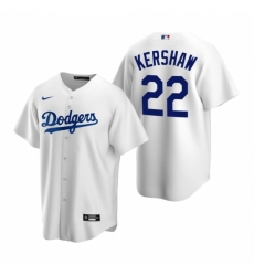Mens Nike Los Angeles Dodgers 22 Clayton Kershaw White Home Stitched Baseball Jerse