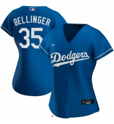 Los Angeles Dodgers 35 Cody Bellinger Nike Women Alternate 2020 MLB Player Jersey Royal