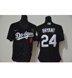 Los Angeles Dodgers 8 24 Kobe Bryant Women Nike Black Cool Base 2020 KB Patch MLB Jersey