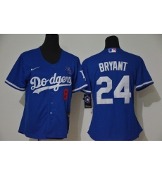 Los Angeles Dodgers 8 24 Kobe Bryant Women Nike Blue Cool Base 2020 KB Patch MLB Jersey