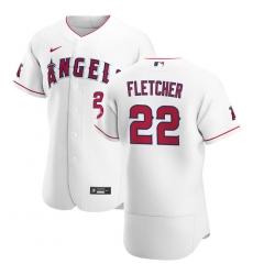 Men Los Angeles Angels 22 David Fletcher Men Nike White Home 2020 Flex Base Player MLB Jersey
