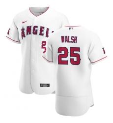 Men Los Angeles Angels 25 Jared Walsh Men Nike White Home 2020 Flex Base Player MLB Jersey