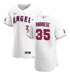 Men Los Angeles Angels 35 Matt Andriese Men Nike White Home 2020 Flex Base Player MLB Jersey