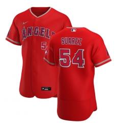 Men Los Angeles Angels 54 Jose Suarez Men Nike Red Alternate 2020 Flex Base Player MLB Jersey
