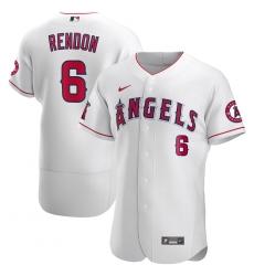 Men Los Angeles Angels 6 Anthony Rendon Men Nike White Flex Base Player MLB Jersey