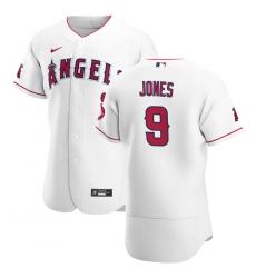 Men Los Angeles Angels 9 Jahmai Jones Men Nike White Home 2020 Flex Base Player MLB Jersey
