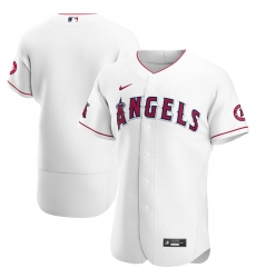Men Los Angeles Angels Men Nike White Home 2020 Flex Base Team MLB Jersey