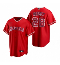 Mens Nike Los Angeles Angels 28 Andrew Heaney Red Alternate Stitched Baseball Jersey