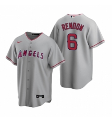 Mens Nike Los Angeles Angels 6 Anthony Rendon Gray Road Stitched Baseball Jersey