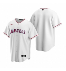 Mens Nike Los Angeles Angels Blank White Home Stitched Baseball Jersey