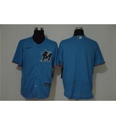 Marlins Blank Blue 2020 Nike Cool Base Jersey