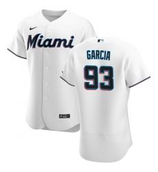 Men Miami Marlins 93 Yimi Garcia Men Nike White Home 2020 Flex Base Player MLB Jersey