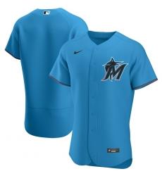Men Miami Marlins Men Nike Blue Alternate 2020 Flex Base Team MLB Jersey