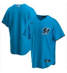 Men Miami Marlins Nike Blue Blank Jersey