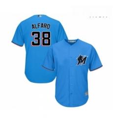 Mens Miami Marlins 38 Jorge Alfaro Replica Blue Alternate 1 Cool Base Baseball Jersey