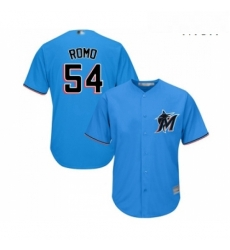 Mens Miami Marlins 54 Sergio Romo Replica Blue Alternate 1 Cool Base Baseball Jersey