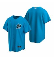 Mens Nike Miami Marlins Blank Blue Alternate Stitched Baseball Jersey
