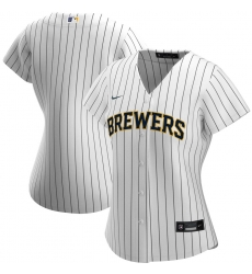 Milwaukee Brewers Nike Women Alternate 2020 MLB Team Jersey White Navy