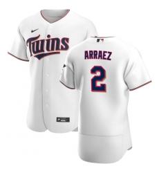 Men Minnesota Twins 2 Luis Arraez Men Nike White Home 2020 Flex Base Player MLB Jersey