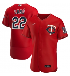 Men Minnesota Twins 22 Miguel Sano Men Nike Red Alternate 2020 Flex Base Player MLB Jersey