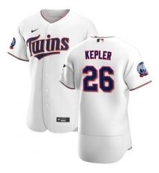 Men Minnesota Twins 26 Max Kepler Men Nike White Home 2020 60th Season Flex Base Team MLB Jersey