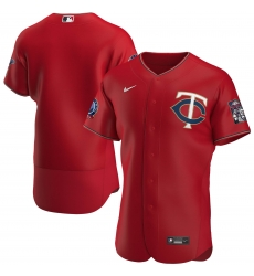 Men Minnesota Twins Men Nike Red Alternate 2020 60th Season Flex Base Team MLB Jersey