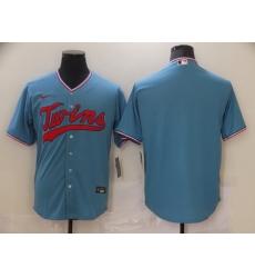 Men Nike Minnesota Twins Light Blue Alternate Authentic Team Blank MLB Jersey