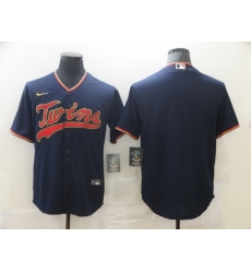 Men Nike Minnesota Twins Navy Blue Alternate Authentic Team Blank MLB Jersey