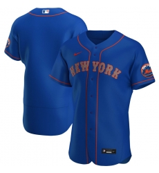 Men New York Mets Men Nike Royal Alternate 2020 Flex Base Team MLBJersey