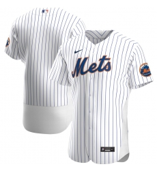 Men New York Mets Men Nike White Home 2020 Flex Base Official Team MLB Jersey
