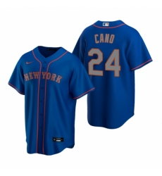 Mens Nike New York Mets 24 Robinson Cano Royal Alternate Road Stitched Baseball Jersey