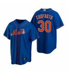 Mens Nike New York Mets 30 Michael Conforto Royal Alternate Stitched Baseball Jerse