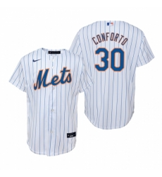 Mens Nike New York Mets 30 Michael Conforto White Home Stitched Baseball Jerse